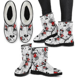 buy Woman's Comic Couple Limited edition Faux Fur Boots online