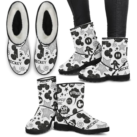 Limited Edition Comics Faux Fur Boots