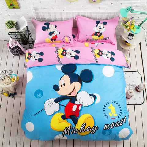 buy 3D Blue&Pink Mickey Bedding online