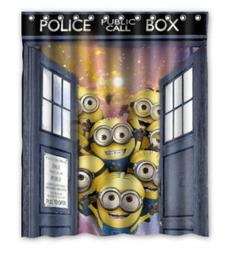Minions Doctor Who Shower Curtain LIMITED EDITION