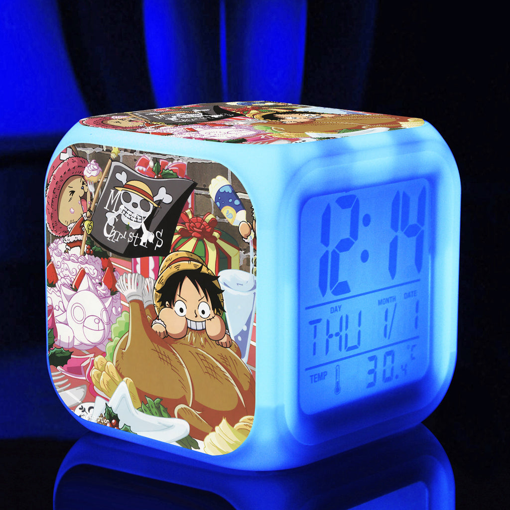 One Piece LED Color Changing Clock LIMITED EDITION