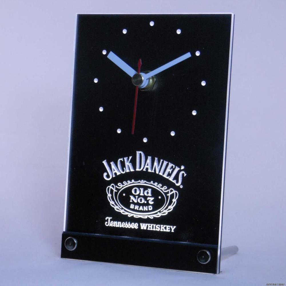 Jack Daniel's Whiskey Bar 3D LED Clock