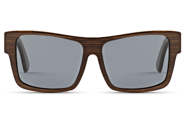 Front of glasses view. The original wood grain style that you know and love. edlee sunglasses are always made from the highest quality products including our sustainable and eco-friendly bamboo. Our wooden sunglasses are designed to be lightweight and comfortable with polarized lenses to ensure the best possible vision.