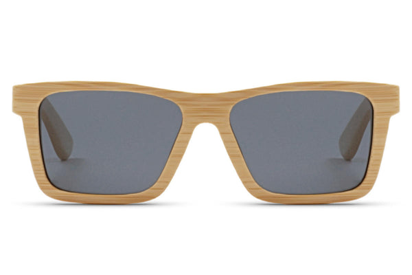 Front of glasses view. The natural color of bamboo is highlighted in order to get the purest, most true-to-life style. edlee sunglasses are always made from the highest quality products including our sustainable and eco-friendly bamboo. Our wooden sunglasses are designed to be lightweight and comfortable with polarized lenses to ensure the best possible vision.