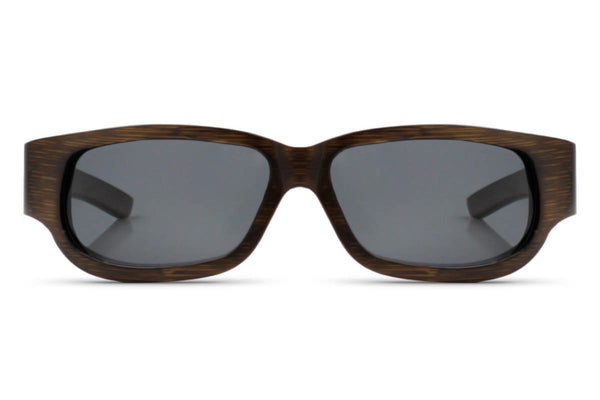 Front of glasses view. The original woodgrain style that you know and love. edlee sunglasses are always made from the highest quality products including our sustainable and eco-friendly bamboo. Our wooden sunglasses are designed to be lightweight and comfortable with polarized lenses to ensure the best possible vision.