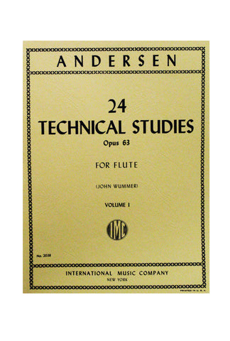 Andersen (arr. John Wummer) - 24 Technical studies Op. 63 For Flute Vol. I
