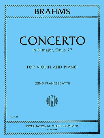 Brahms (Zino Francescatti) - Concerto in D major, Opus 77