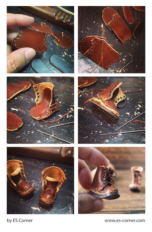 Miniature Leather Boots