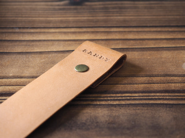 Personalized Leather Bookmark #Nude
