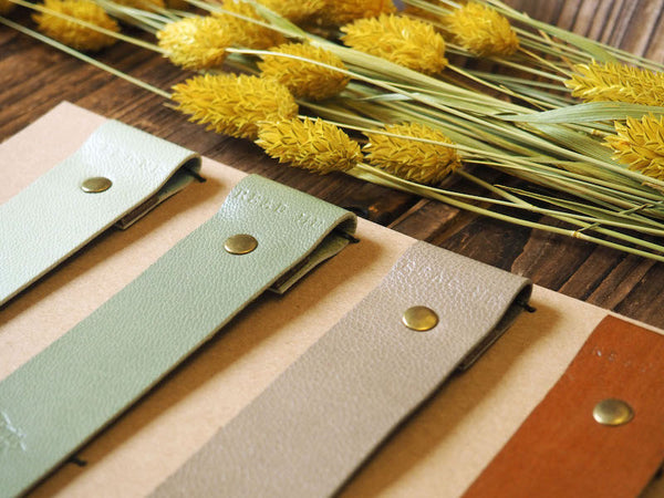 Natural Plain Handmade Leather Bookmarks Gift Set Nature Simple Warm Colors Gift Set Gift for Him for Her | ES Corner