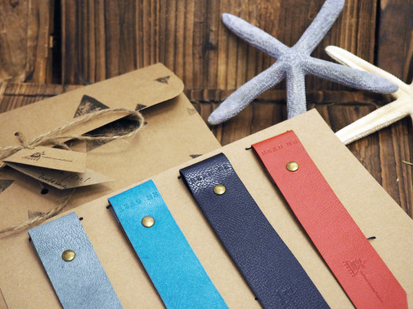 Natural Ocean Handmade Leather Holiday Gift Set Guide Blue Red Grey | ES Corner
