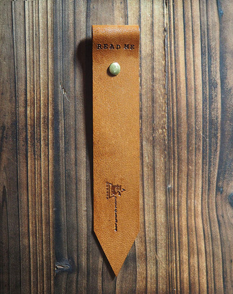 ES Corner Leather Bookmark Goat skin Brown Color
