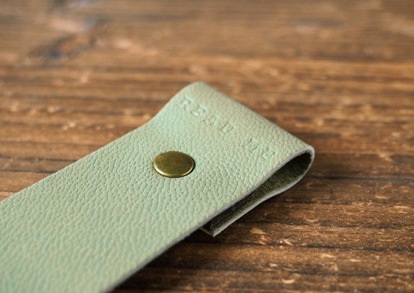 ES Corner Handmade Leather Bookmarks Goat skin leather Japan Green Bookmark