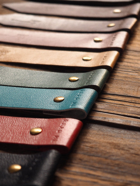 ES Corner Handmade Leather Bookmarks Minimal Style Earth tone