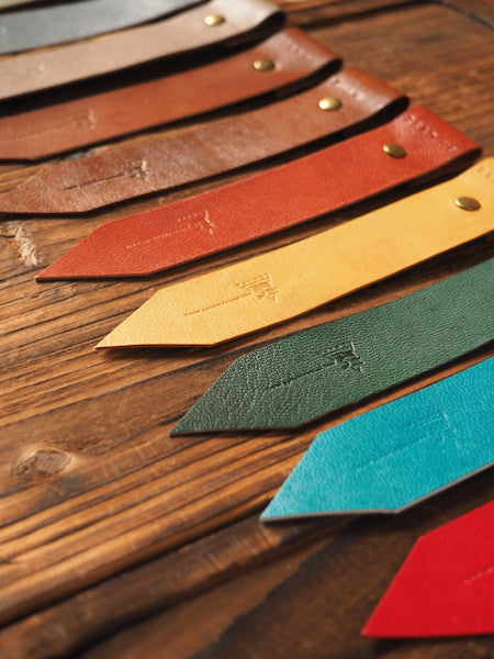 ES Corner Handmade Leather Bookmarks tag Warm tone Brown Grey and more