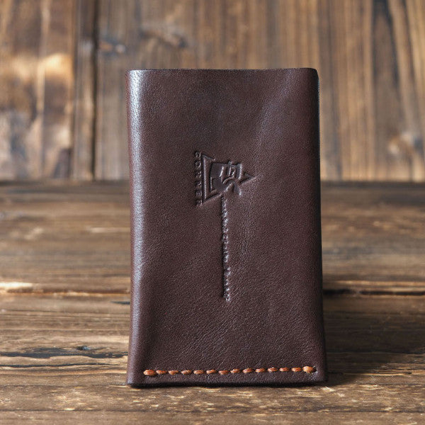 ES Corner Leather Minimalist Card Holder Credit card Business card holder Dark Brown Back