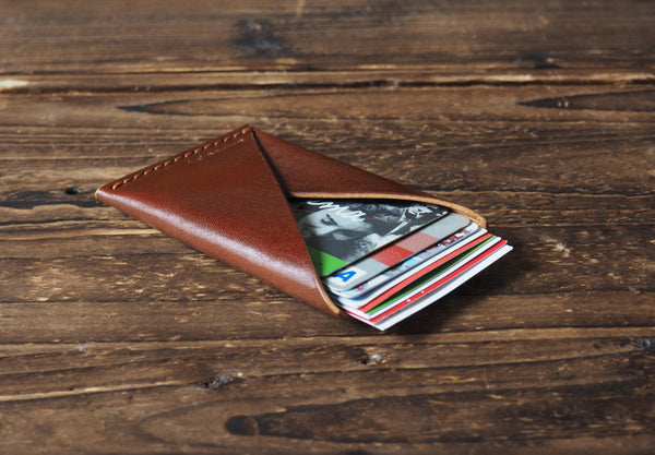 ES Corner Leather Minimalist Credit card Business card holder Black everyday carry