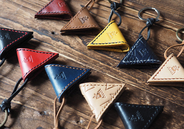 ES Corner Handmade Leather Guitar Pick Case Multiple Color Yellow Red Blue
