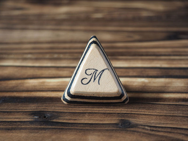 ES Corner Handmade Leather Initial Ring that Just for you Monogram gifts for birthday anniversary Triangle