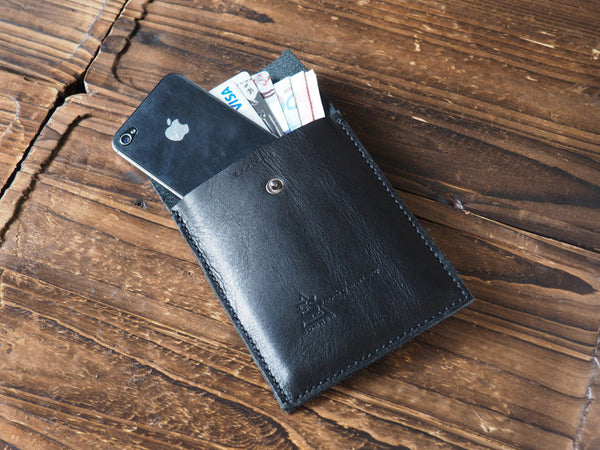 Black | ES Corner Leather Pouch | iPhone 5s, 5