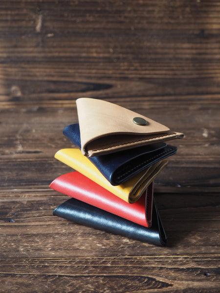 Leather Triangle Coin Purse #Black | 5 colors available | ES Corner