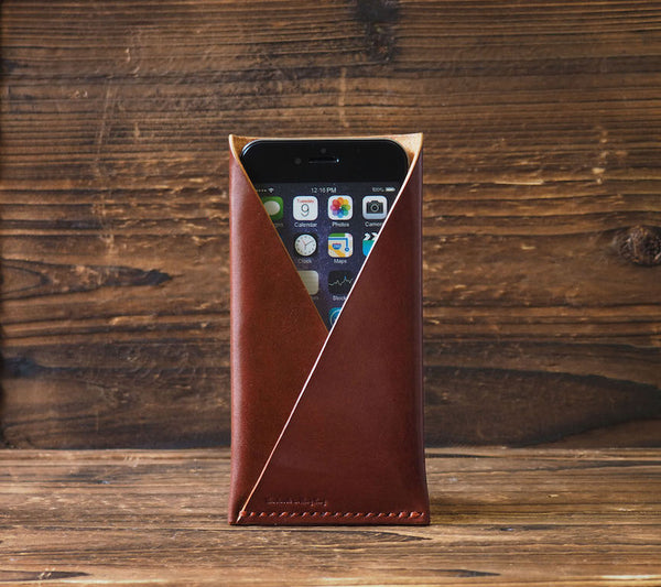 ES Corner Handmade Leather Phone Case Whiskey Brown for iPhone 6