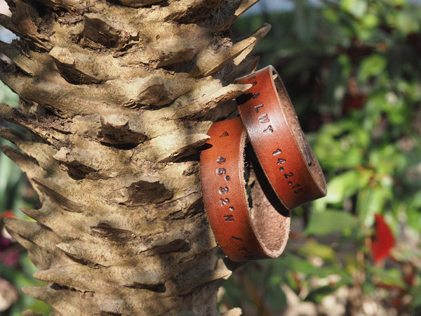 ES Corner Handmade Leather Personalized Couple Gifts Cuff Bracelet Brown Gifts for him for her Accessories