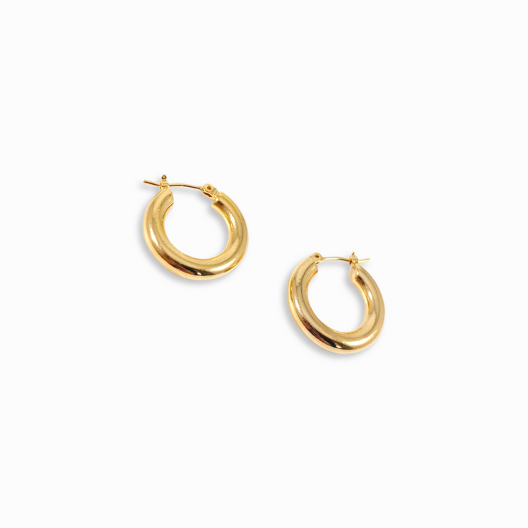 Mia Thick Gold Hoops