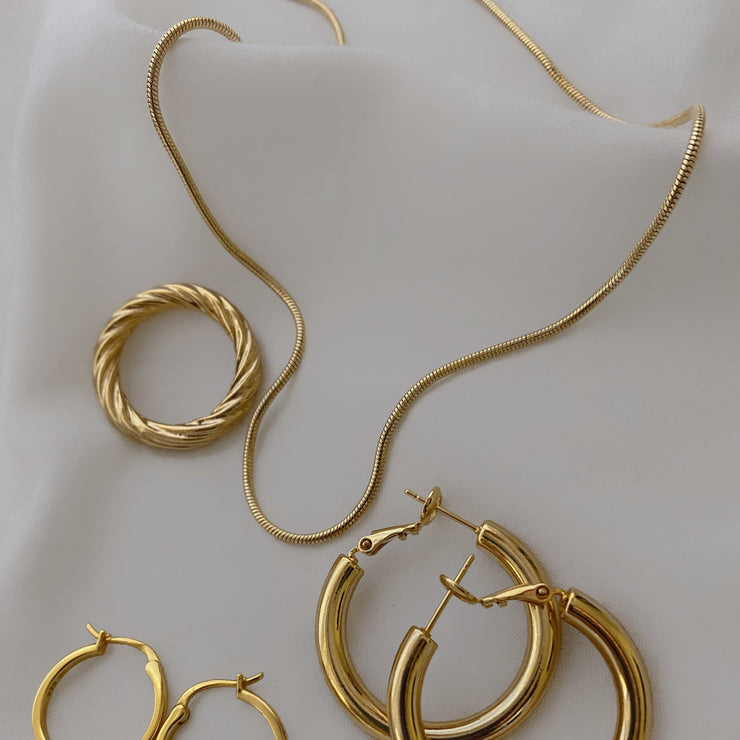 Silvia Skinny Gold Snake Chain Necklace