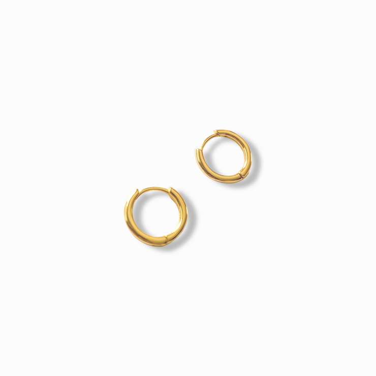Lola Micro Gold Hoop Earrings