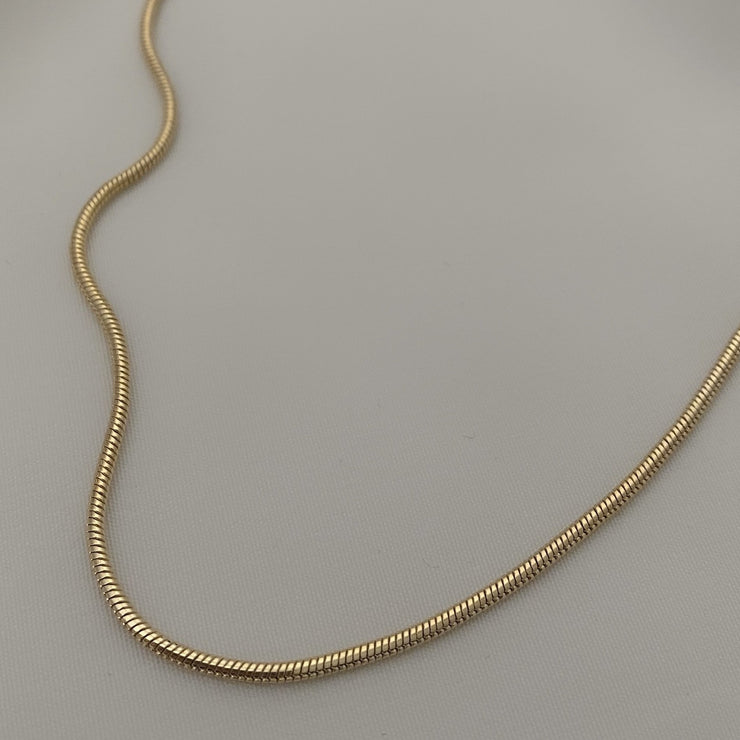 Celia Thin Gold Snake Chain Necklace