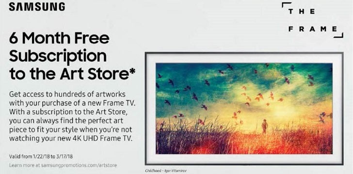 Samsung Frame - 6 Month Free Subscription to the Art Store