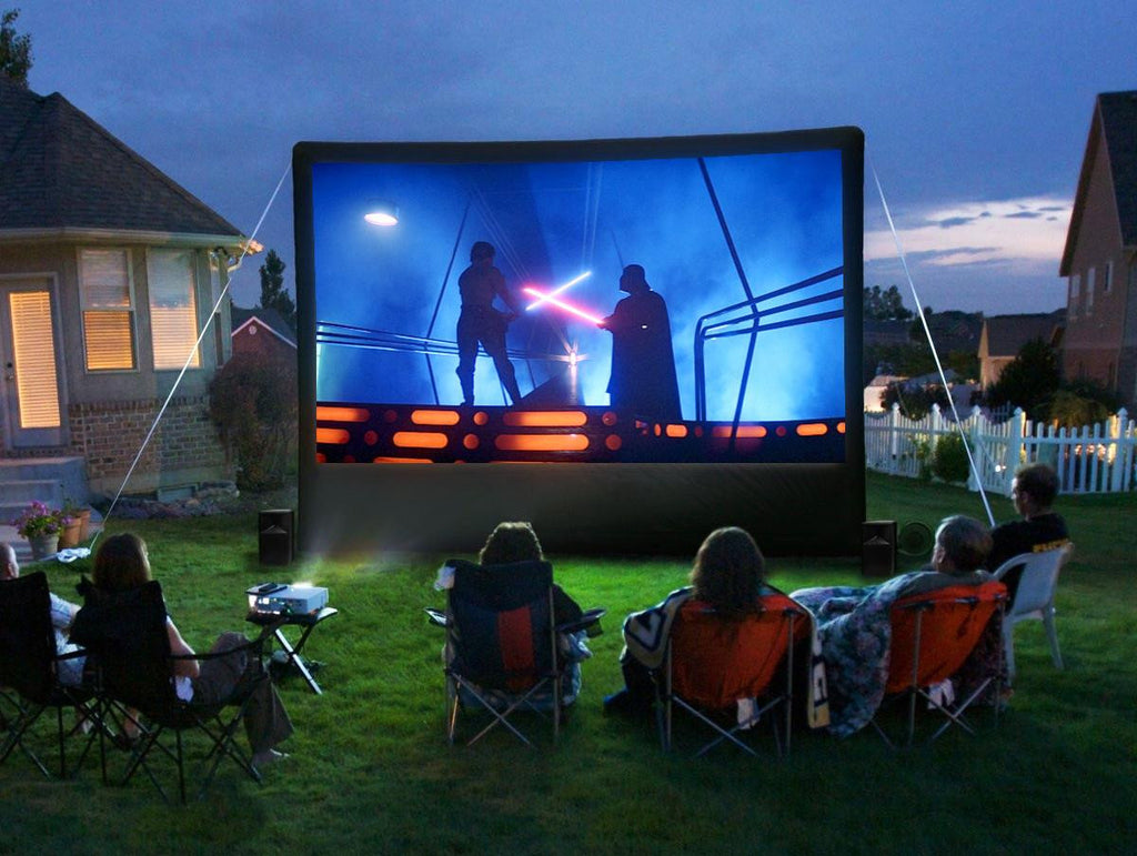 Rockin' the Block with a Starpower Outdoor Home Theater System