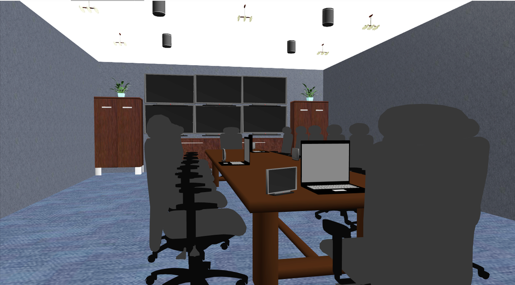 Conference Room 3D Rendering