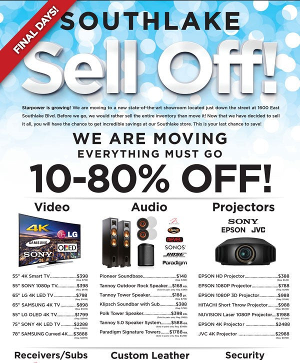 Southlake-Sell-Off-Event-Starpower-Save-Up-To-80%
