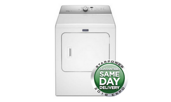 Maytag 29-Inch 7-Cu. ft Electric Dryer - White - MEDB766FW-Appliances-Maytag-Starpower Home Theater