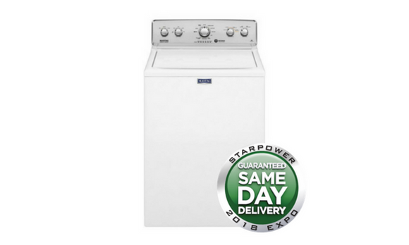 Maytag 4.2 Cu. Ft. 11-Cycle Top-Loading Washer - White - MVWC565FW-Appliances-Maytag-Starpower Home Theater