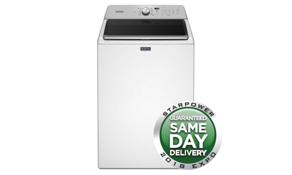 Maytag 28-Inch 4.7 Cu. ft. Top Load Washer - White - MVWB766FW-Appliances-Maytag-Starpower Home Theater