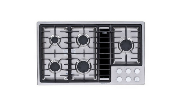 "Jenn-Air 36"" Stainless Steel Downdraft Gas Cooktop - JGD3536BS-Appliances-Jenn-Air-Starpower Home Theater"