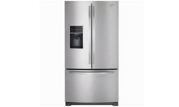 Whirlpool 27 cu. ft. French Door Bottom Freezer Refrigerator - WRF767SDEM-Refrigerator-Whirlpool-Starpower Home Theater