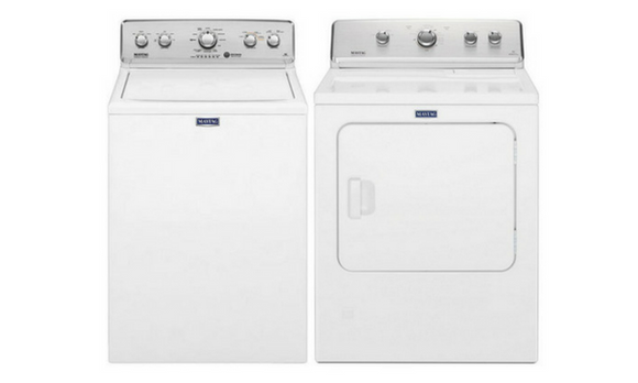 Maytag Top Load Washer & Electric Dryer Pair - MVWC565FW /MEDC465HW-Washer-Maytag-Starpower Home Theater