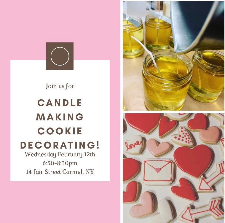 Valentine Candle Making & Cookie Decorating!