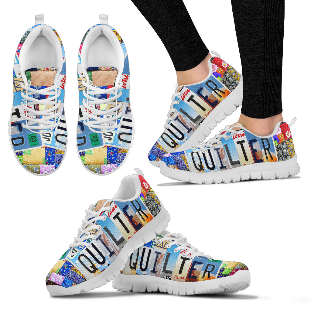 License Plate Art Quilter Sneaker