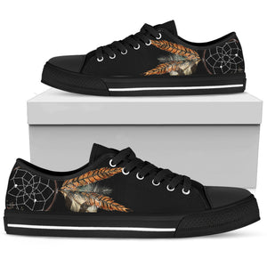 Women's Feather Dreamcatcher Low Top Canvas Shoe