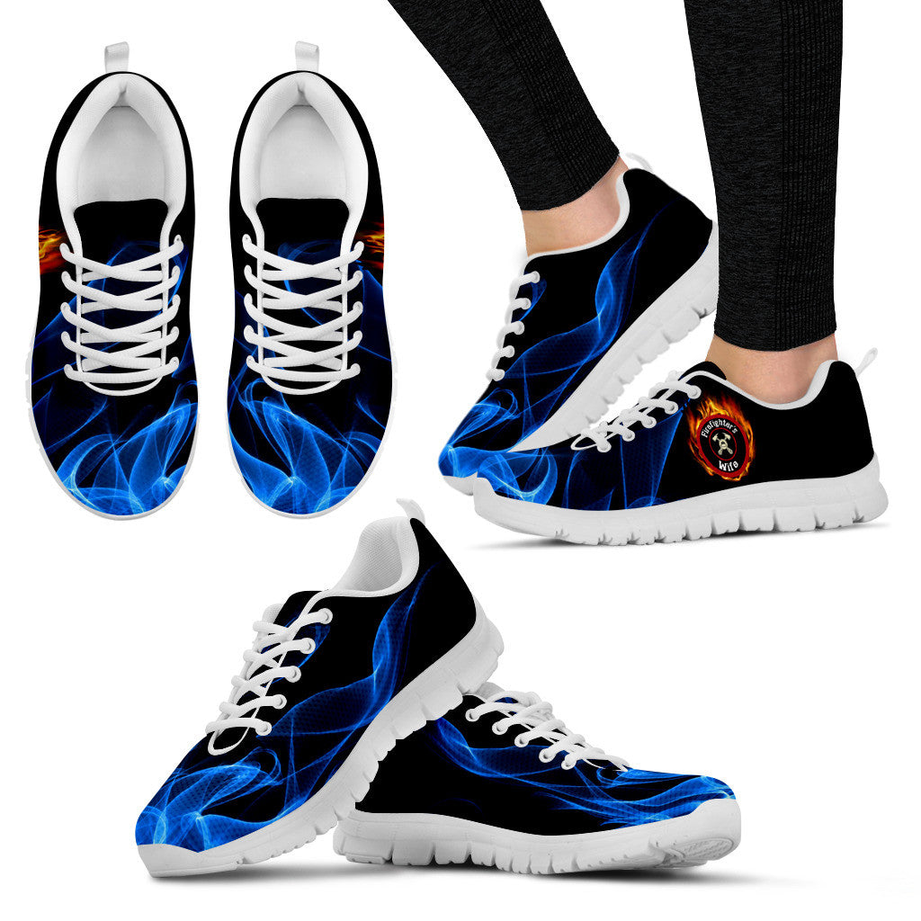 Blue Fire Firefighter's Wife Sneaker