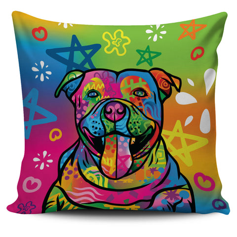 Image of Psychedelic Pitbull Pillow Cover