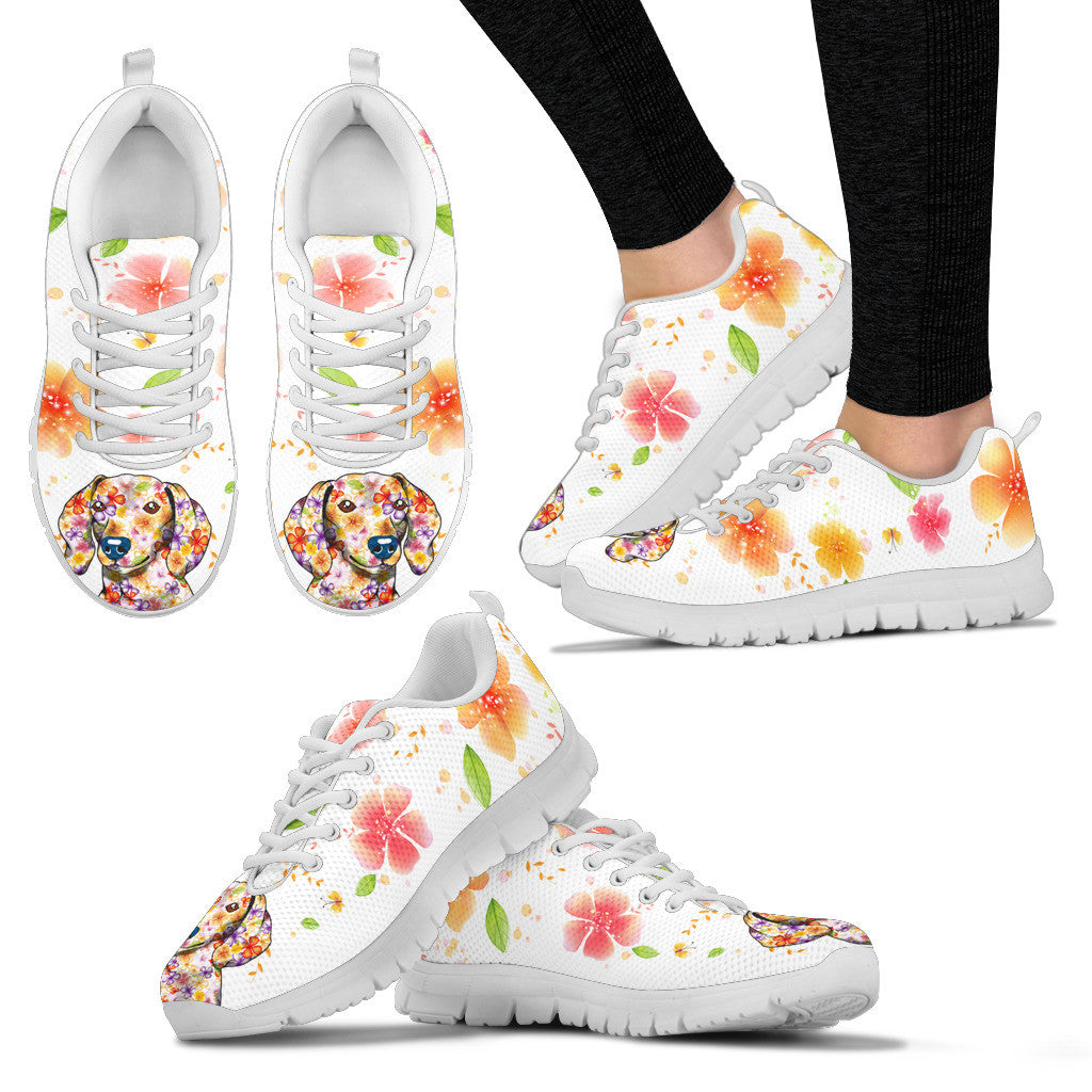 Dachshund Flower Sneakers