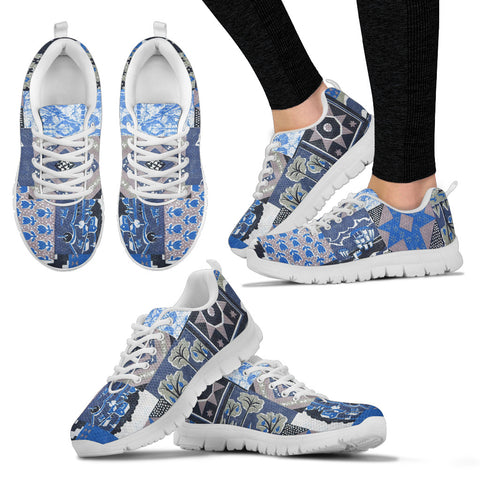 Blue Patch Quilt Sneaker