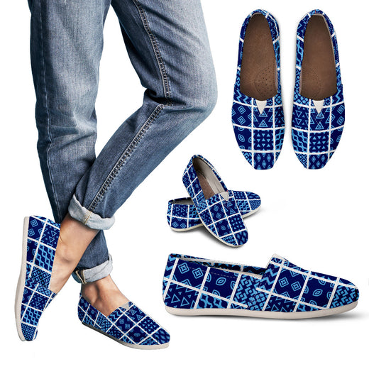 Blue Quilt Casual Shoe