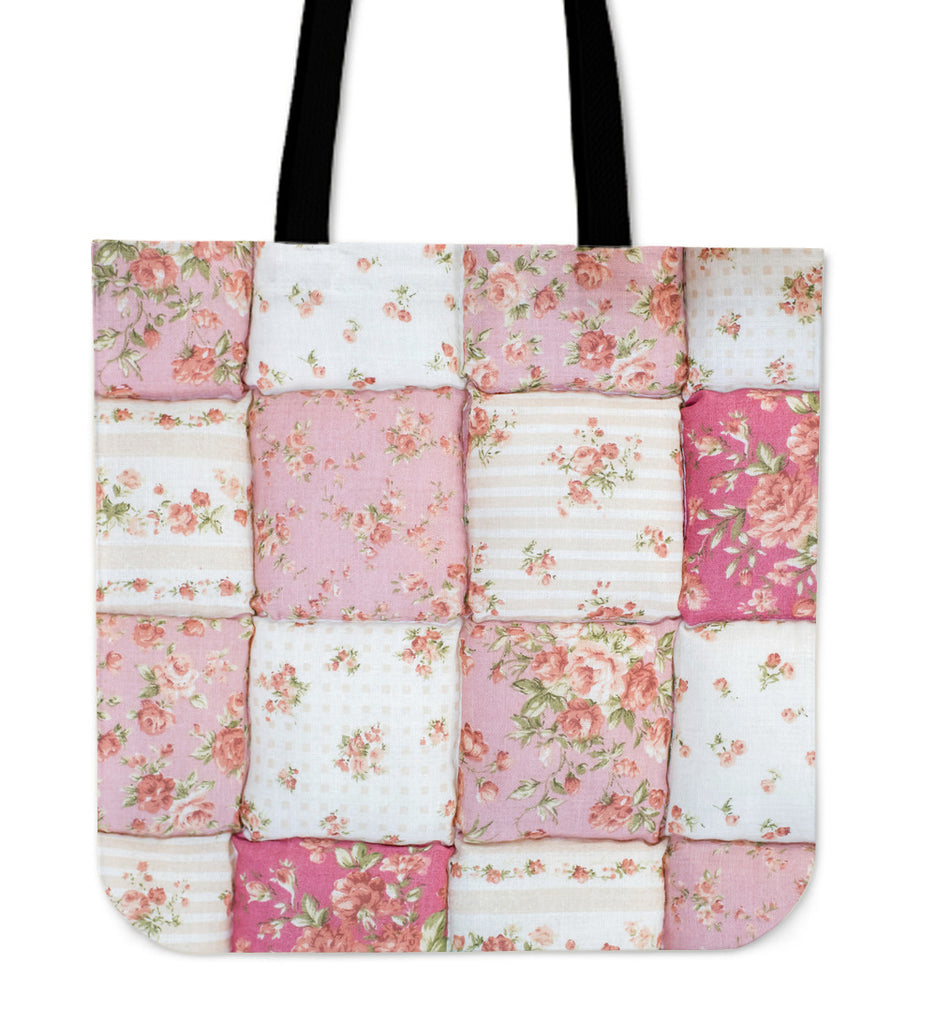 Pink Puffy Quilt Tote Bag